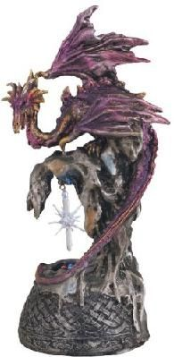 Dragon w/ Lighting LED Crystal Ball Collectible Figurine Statue Decor Fantasy Dragon, Dragon Art, Dragon Figurines, Bird Wings, Renaissance Clothing, Collectible Figurines, Crystal Ball, Larp, Vintage Antiques