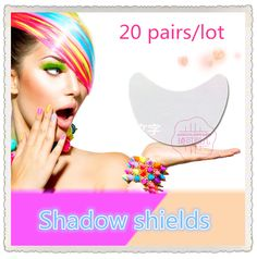 Free shipping new arrival 2 kinds of specifications eye shadow shielded 20 pairs /lot(40 pieces) beauty makeup shields