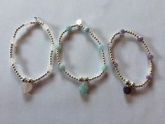 #Handmade #sterling silver stackable bracelet #-birthstone  heart  -   mothers da,  View more on the LINK: http://www.zeppy.io/product/gb/2/142266280597/