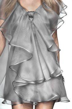 Valentino Spring 2010 Ready-to-Wear collection by Maria Grazia Chiuri and Pier P. Valentino Spring 2010 Ready-to-Wear collection by Maria Grazia Chiuri and Grey Fashion, Spring Fashion, High Fashion, Paris Fashion, Womens Fashion, Feminine Fashion, Punk Fashion, Lolita Fashion, Style Haute Couture