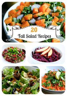 20 Seasonal, Satisfying Fall Salad Recipes @Paige Hereford Hereford Smith we need to try some of these.