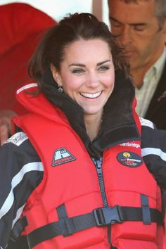 Catherine Duchess of Cambridge has her lifejacket fitted as she prepares to board the Shotover Jet on 13.04.14 in Queenstown, NZ