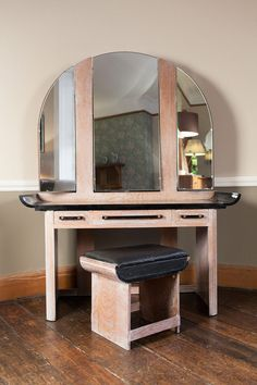 Art Deco Mirrored Dressing Table | Antique Art Deco Dressing Table & Stool.