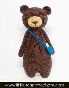 Bear amigurumi pattern #littlebearcrochets #amigurumi #crochet #diy