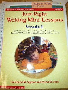 just right writing mini lessons gr 1
