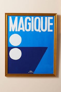 Magique Wall Art Blue White Sailor Ocean Boat Painting Affordable art $378