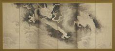 Dragons and Clouds. One of a pair of screens. six-panel) Artist: Tawaraya Sōtatsu 俵屋宗達 (fl. ca. 1600-1643). Momoyama or Edo period, 1590-1640