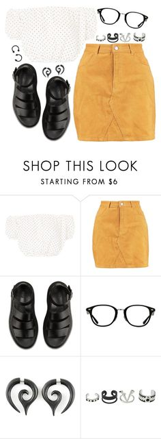 """""""Untitled #1372"""" by asoul4 ❤ liked on Polyvore featuring Oh My Love, Boohoo, Dr. Martens, Ray-Ban and co"""
