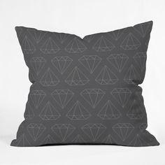 DENY Designs Wesley Bird Diamond Print Polyester Throw Pillow