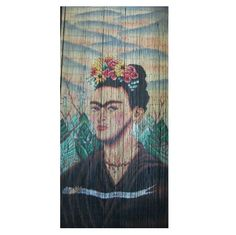 Frida Kahlo is a 125 strand 90 x beaded door curtain featuring a colourful depiction of iconic artist Frida Kahlo.