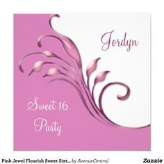 Pink Jewel Flourish Sweet Sixteen Birthday Party by Avenue Central