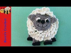 Crochet owl applique - YouTube