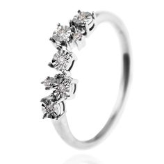 Bague femme, diamant 0,05 ct, diamant 0,02 ct, or gris, 2.36g #LeManegeABijoux