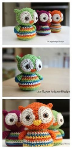 Crochet Amigurumi Rabbit Ideas Cute Owl Free Crochet Pattern - Here are a couple of owl free crochet pattern. These are super cute amigurumi owls, especially the one with their big sleepy eyes. They are easy to make. Owl Crochet Patterns, Owl Patterns, Amigurumi Patterns, Knitting Patterns, Pattern Ideas, Crochet Ideas, Free Knitting, Dress Patterns, Free Pattern
