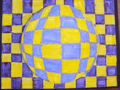 Illusions with Easy Grids - Natural Math Op Art Lessons, 3rd Grade Art Lesson, Middle School Art Projects, Illusion Art, Mosaic Patterns, Elementary Art, Photo Art, Art For Kids, Graphic Art