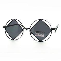 Black Double Circle Diamond Frame Sunglasses Round Thin Metal Unique Fashion Eyewear JuicyOrange http://www.amazon.com/dp/B00DE2VD0W/ref=cm_sw_r_pi_dp_ln84wb0609YP2