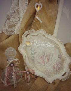 Χειροποίητοι Ιταλικοί ξύλινοι Δίσκοι με Γυάλινη Μποτίλια - Ποτήρι! Our Wedding, Burlap, Reusable Tote Bags, Hessian Fabric, Canvas