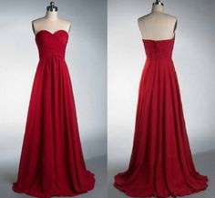A-line Sweetheart Neck Chiffon Bridesmaid Dresses Sleeveless Strapless Ruched Embellished Floor-length Burgundy Chiffon Bridesmaid Dresses