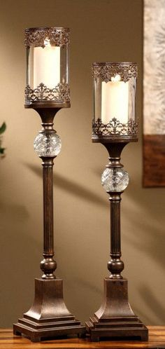 Crestview Collection CVCHI563 Ashland Candleholders 30/34 Ht.
