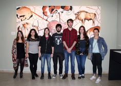 Algunos de los alumnos participantes en la muestra. Bison