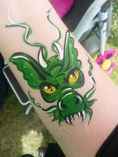 dragon ❤'d by http://makeupartistrycairns.com.au #facepaint #gragon #inspiration