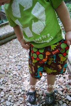 Boy shorts tutorial I don't need but maybe it will remind me to make my kids some shorts..