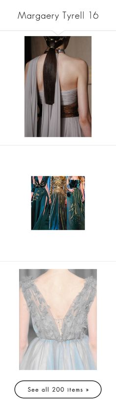 """Margaery Tyrell 16"" by summersdream ❤ liked on Polyvore featuring dresses, gowns, couture gowns, blue evening gown, blue gown, couture ball gowns, blue evening dresses, pictures, backgrounds and photos"