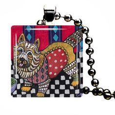Dog Jewelry  Cairn Terrier Jewelry Pendant by HeatherGallerArt, $28.00