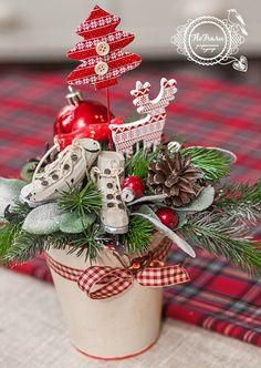 традиционный новый год флористика рождество подарок оформление интерьера сувенир цветы аранжировка www.flofra.ru.jpg 2