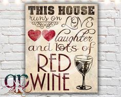wine decor kitchen decor printable art by QuotablePrintables, $5.00