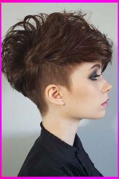 Undercut Pixie Haircut, Undercut Women, Undercut Hairstyles, Modern Hairstyles, Pixie Hairstyles, Short Hairstyles For Women, Curly Undercut, Choppy Haircuts, Full Weave