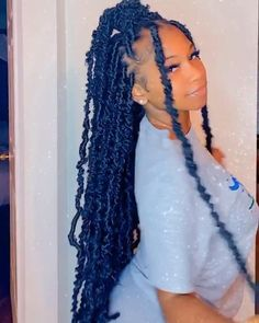 Feed In Braids Hairstyles, Faux Locs Hairstyles, Braids Hairstyles Pictures, Twist Braid Hairstyles, Braided Hairstyles For Black Women, Baddie Hairstyles, Pretty Hairstyles, Girl Hairstyles, Protective Hairstyles
