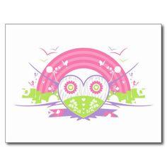 Valentine Rainbow Heart Post Card