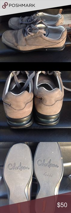 Cole haan  Mens suede sneakers size 11 From Cole haan  Mens platinum grey suede sneakers with lace-up Velcro closure size 11 - note outer suede and insoles show normal wear throughout as shown in pictures original price was 149.99 Cole Haan Shoes Sneakers