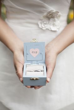 The sweetest wedding ring box | Meo Baaklini Photography