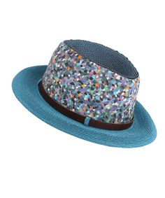 Blue Panama Hat with Belt, Grevi. Shop more accessories from the Grevi collection online at Liberty.co.uk