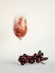Hand Painted Champagne Flutes  Red and by HandPaintedPetals, $72.00