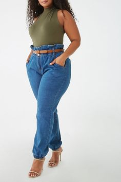 mom jeans plus size outfit Curvy Girl Outfits, Curvy Girl Fashion, Look Fashion, Plus Size Outfits, Casual Outfits, Fashion Outfits, Plus Fashion, Plus Size Winter Outfits, Fashion For Girls