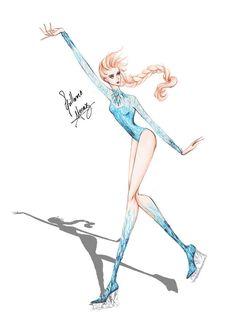 Elsa Ice Skating by frozen-winter-prince on deviantART