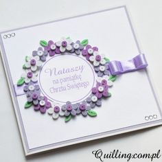 baptism, quilling, greeting card, handmade, Quilling.com.pl