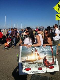FREE Napa Valley pedicabs at @AmericasCup
