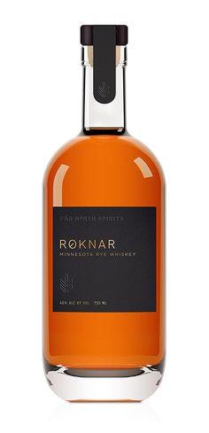 Bourbon · Rye · Whiskey - Distilleries in USA Roknar // Minnesota Rye Whisky Beverage Packaging, Bottle Packaging, Brand Packaging, Design Packaging, Simple Packaging, Bottle Labels, Alcohol Bottles, Liquor Bottles, Label Design
