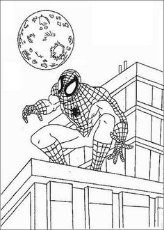 happy feet coloring pages spiderman 082 coloring page