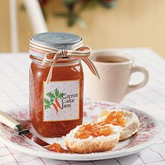 Gifts in a Jar--Carrot #Cake Jam | MyRecipes.com   A little gift for each of your guests to take home.  A rememberance of our traditional PA Dutch Thanksgiving!!   #ultimatethanksgiving
