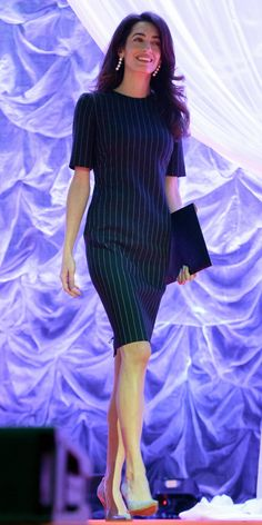 Amal Clooney's Most Stylish Looks Ever November 2016 Dress Outfits, Girl Outfits, Fashion Dresses, Sweater Outfits, Fashion Clothes, Classy Outfits, Stylish Outfits, Office Outfits For Ladies, Office Attire