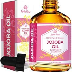 Jojoba Oil by Leven Rose, Pure Cold Pressed Natural Unrefined Moisturizer for Skin Hair and Nails, 4 Fl Oz – 1001 Company Amazon Beauty Products, Pure Products, Nail Oil, All Natural Makeup, Natural Hair, Natural Oils, Zeina, Amber Bottles, Dry Scalp