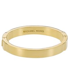 Michael Kors Bracelet, Gold Tone Hinge Bangle - All Fashion Jewelry - Jewelry & Watches - Macy's