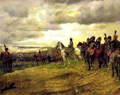 Napoléon en observation sur la ligne de front