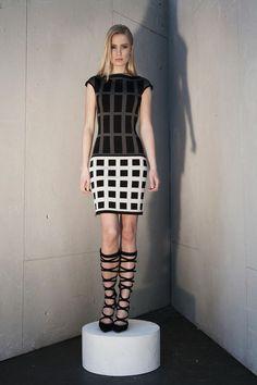 42256ffd426b Paula Hian   #FW14   Maxine Fitted Geo Dress Designer Cocktail Dress, Fall  Winter