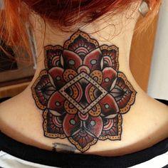 #neck tattoo